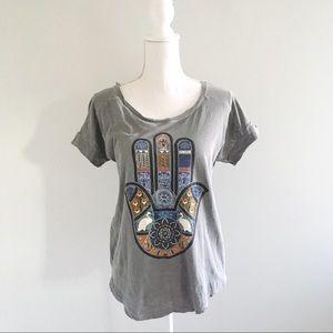 Lucky Lotus Hamsa Vintage Style T-Shirt